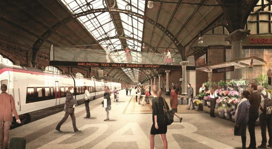 Illustration of what the interior of a redeveloped Darlington Station could look like.