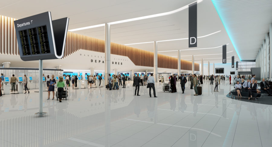Manchester airport departures vision