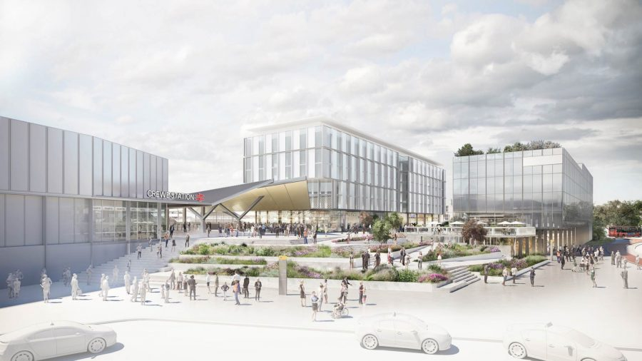 Artists impression of Crewe Railway Station