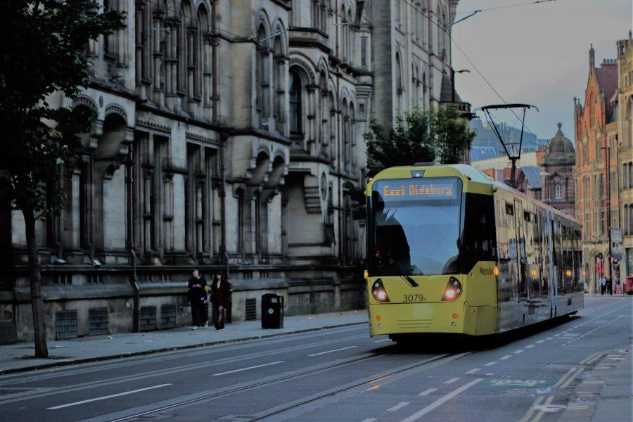 tram on a Manchester street