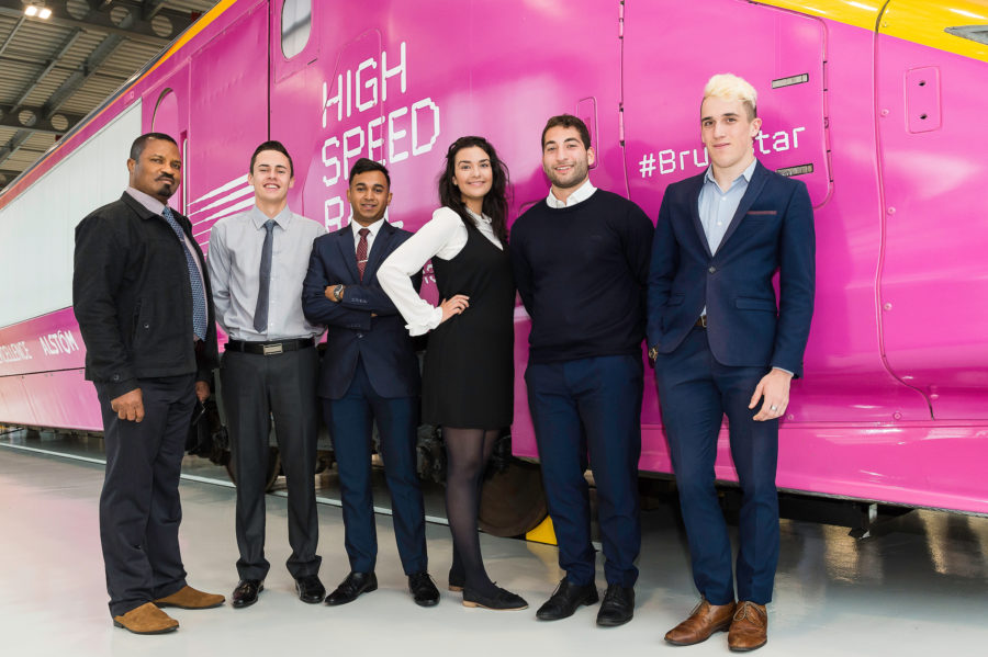 Apprentices at the National College of High Speed Rail