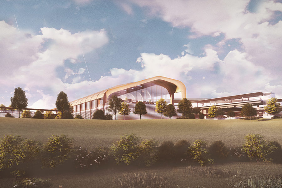 Architect's vision of the new HS2 Interchange station in Solihull