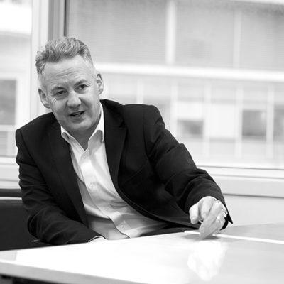 Portraits of new interim CEO Michael Bradley