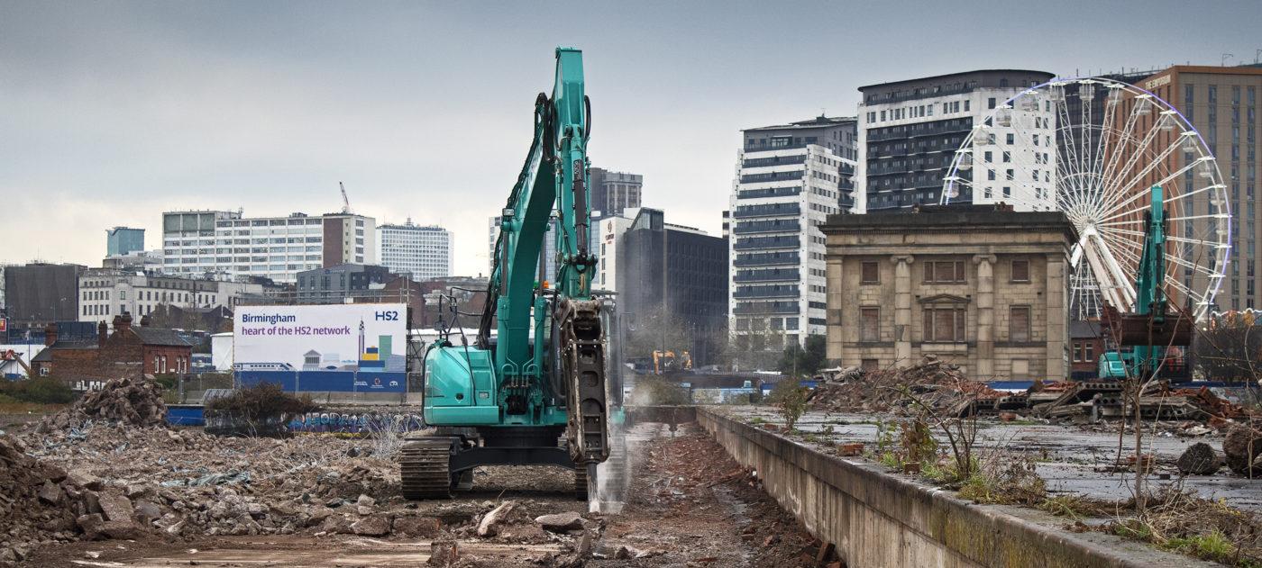 demolition work at Curzon Street