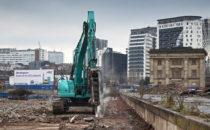 demolition work at Curzon Street