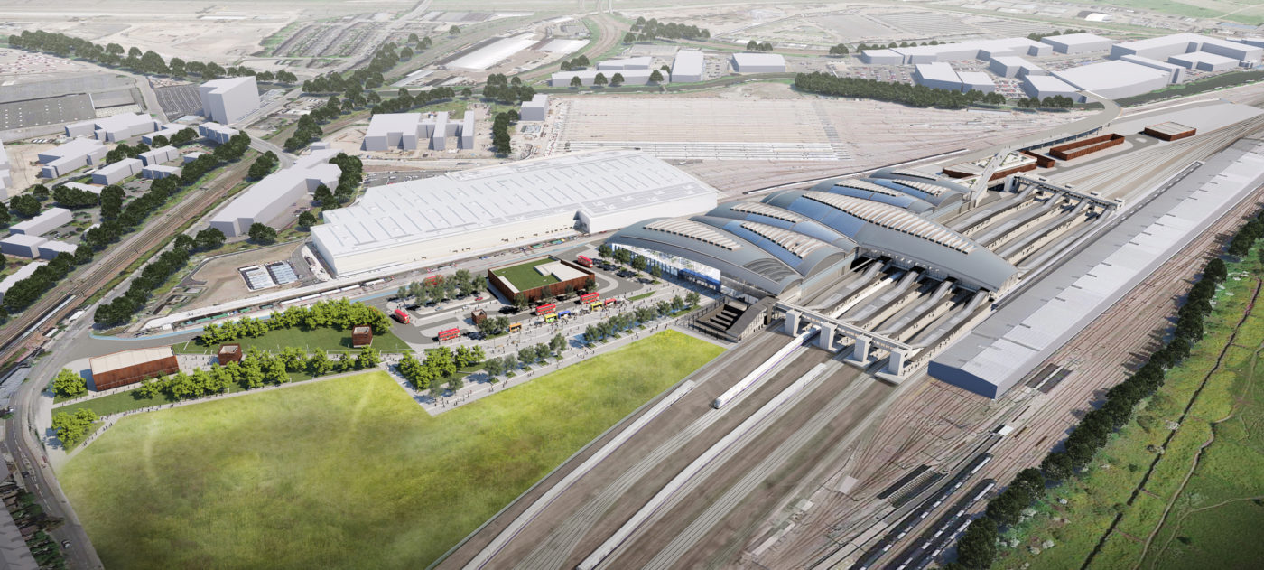 Architects overview image of Old Oak Common station