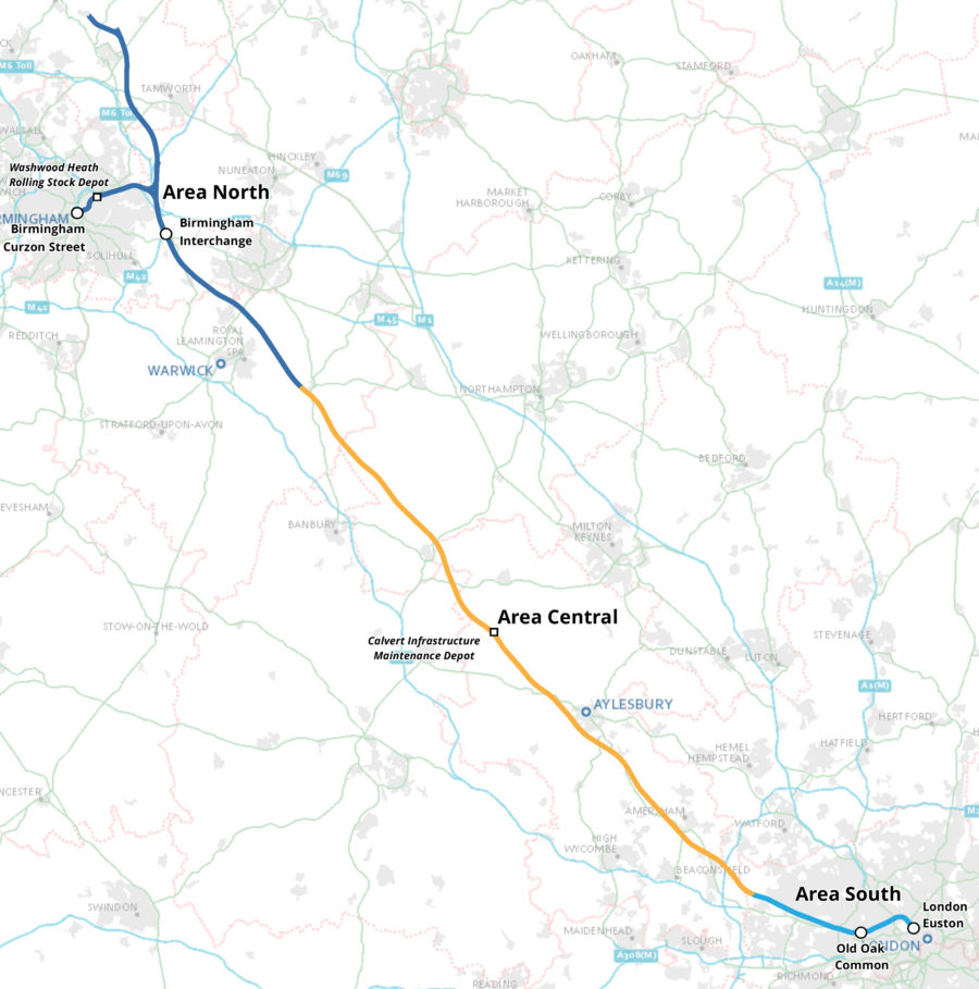 HS2 Phase One route.