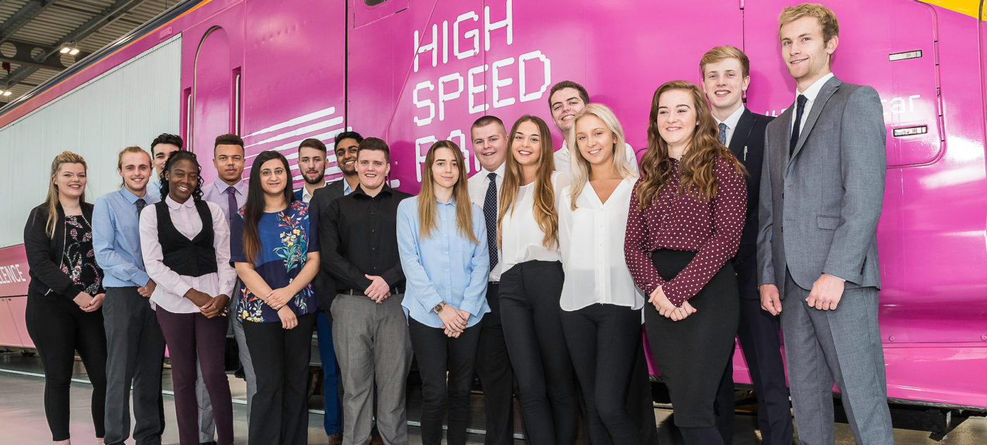 HS2 apprentices at the National College of High Speed Rail.