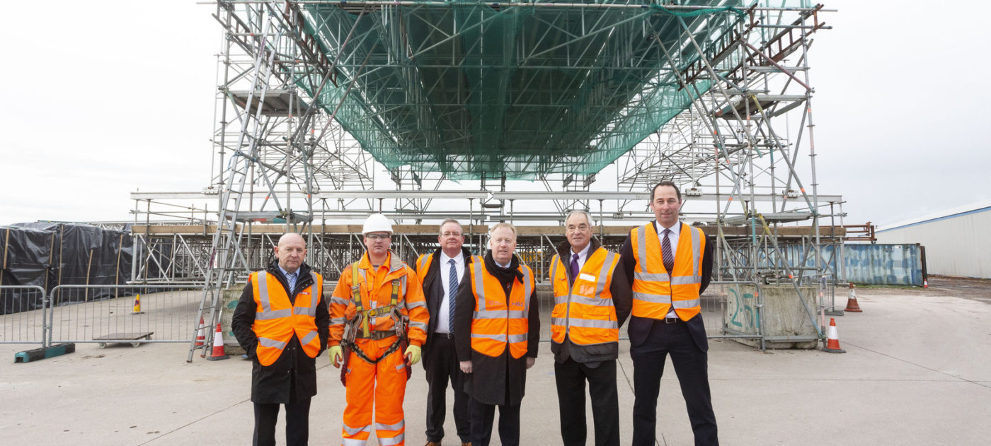HS2 CEO Mark Thurston visits Palmers Scaffolding Group, based in Flintshire, Wales