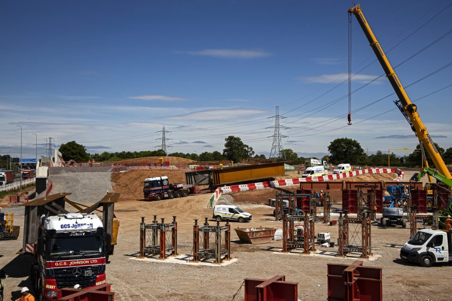 The first of a planned eighteen deliveries of large girders arrived at the Interchange site near Birmingham Airport on 19 May 2020, where LM is leading the construction of a major new bridge across the busy M42 motorway.
