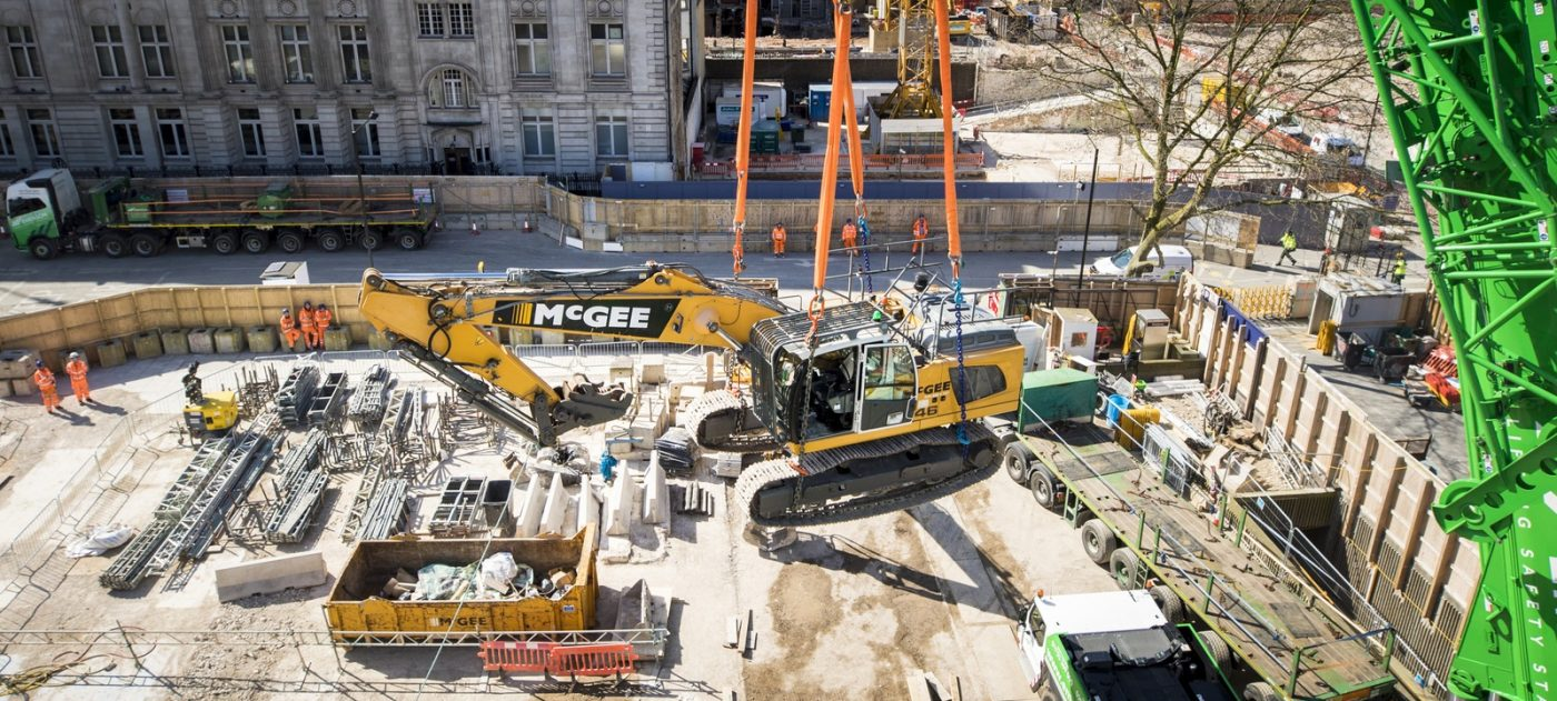 Construction work in Camden, London