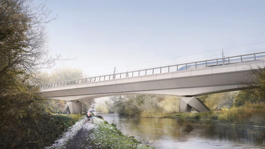 CGI of Colne Valley viaduct