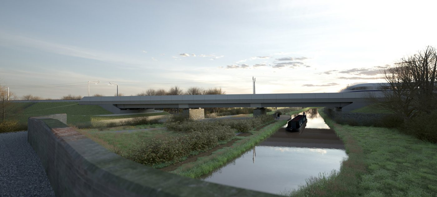 Oxford Canal viaduct, artist's impression