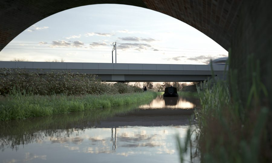 A CGI artist's impression of the Oxford Canal Viaduct
