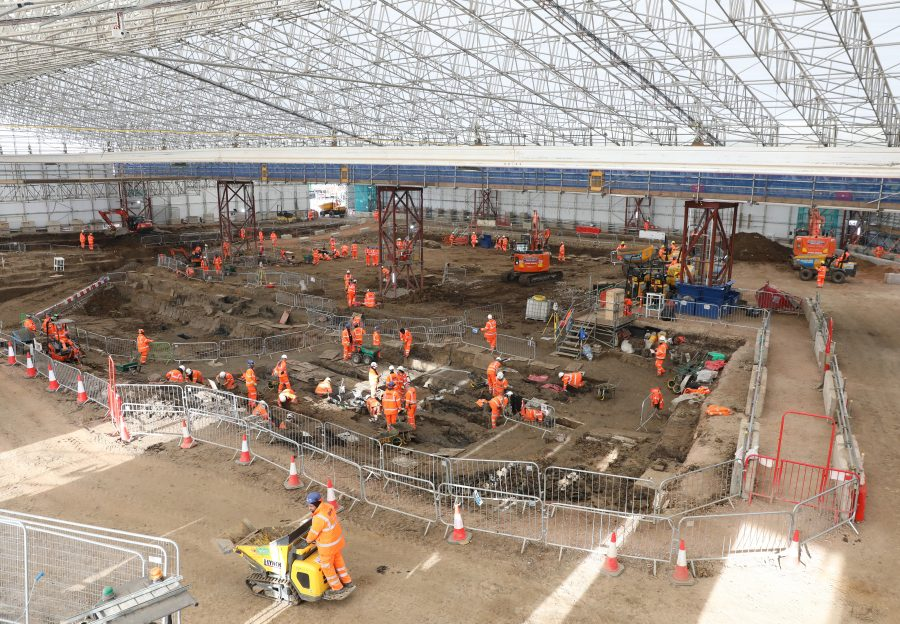 Image of St James' archaeology site.