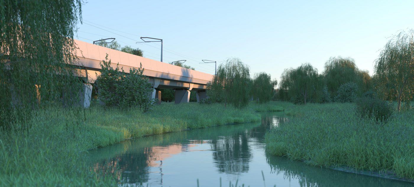 Edgcote viaduct, artist's impression