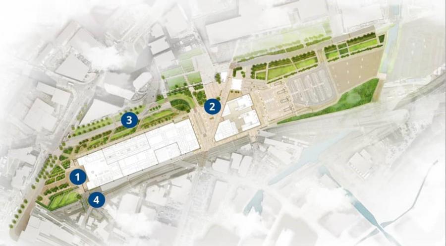 HS2 Curzon Street tation public space map key