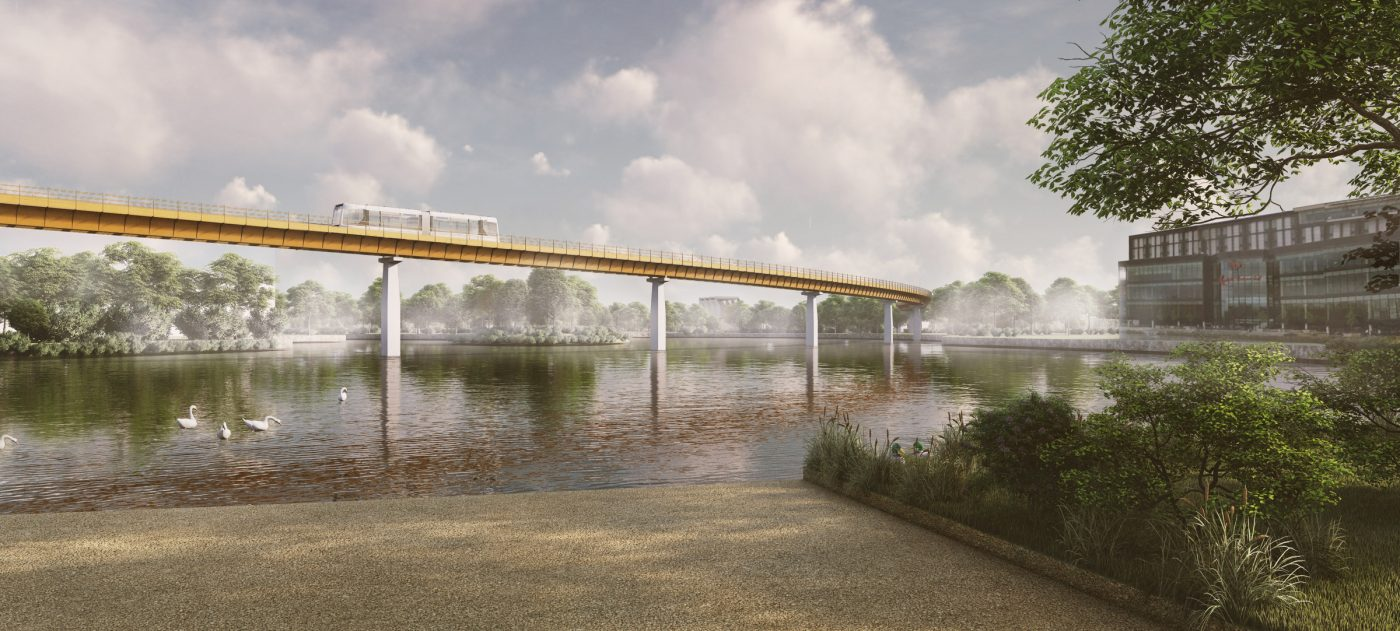 HS2 Interchange station, automated people mover, artist's impression