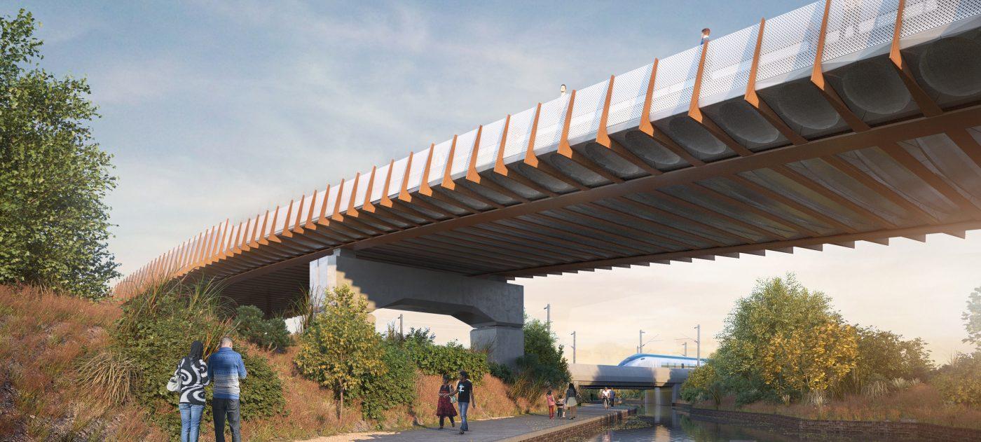 Saltley Viaduct and Aston Church Road Overbridge, artist's impression