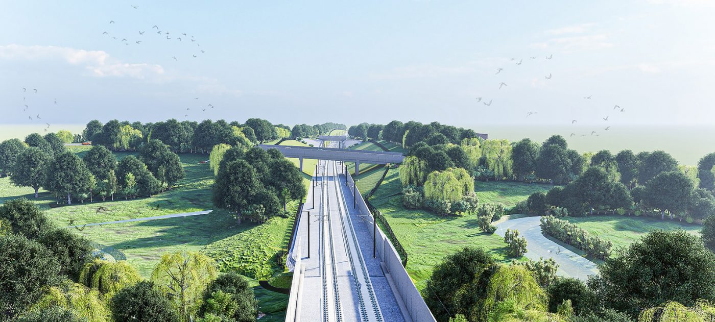 Canley Brook structures, artist's impression