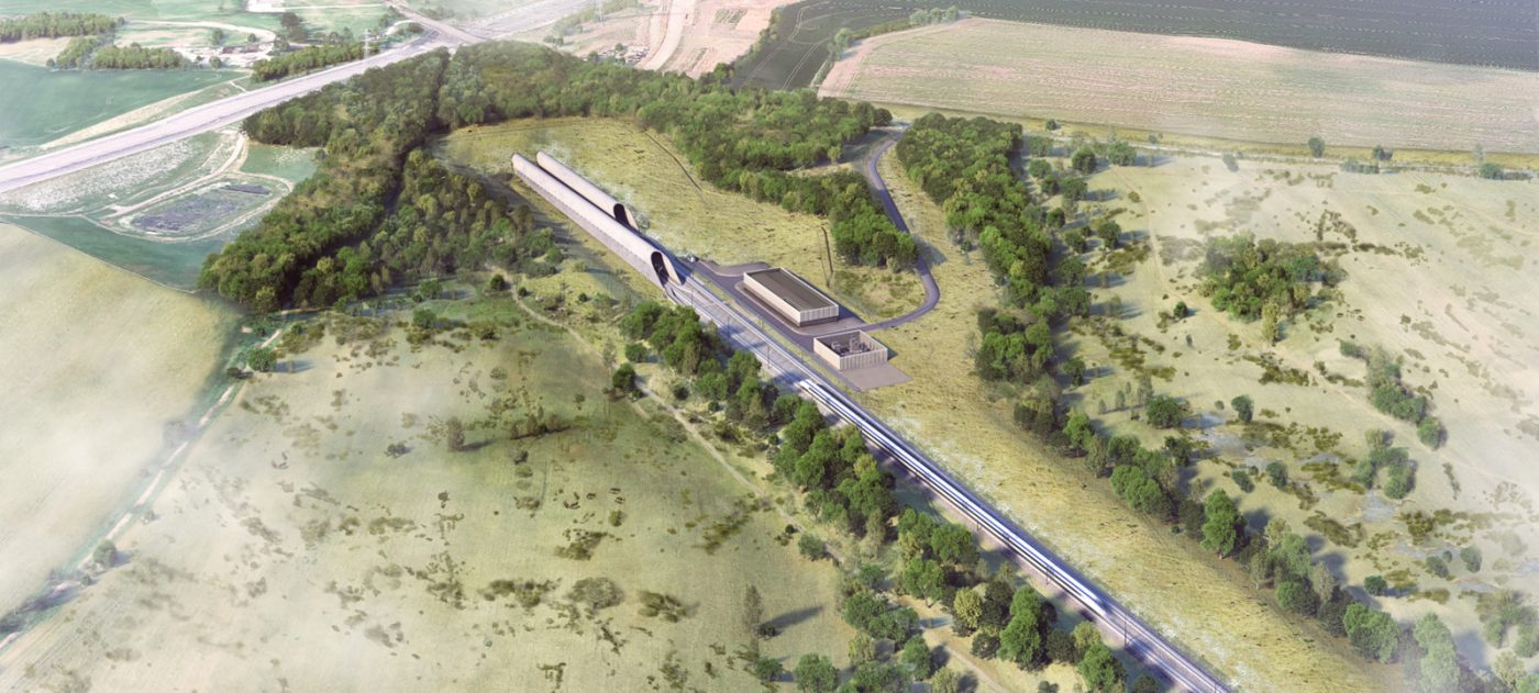 Architect's impression of the Colne Valley Western Slopes in Hertfordshire.