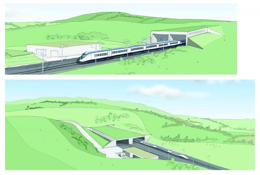 HS2 green tunnel, artist's impression