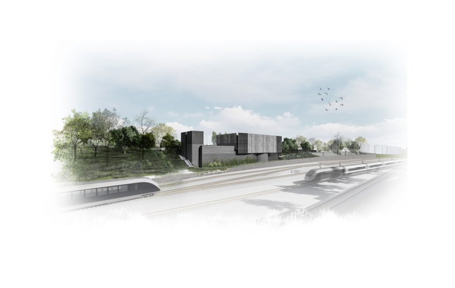 Architect's impression of the proposed Adelaide Road headhouse